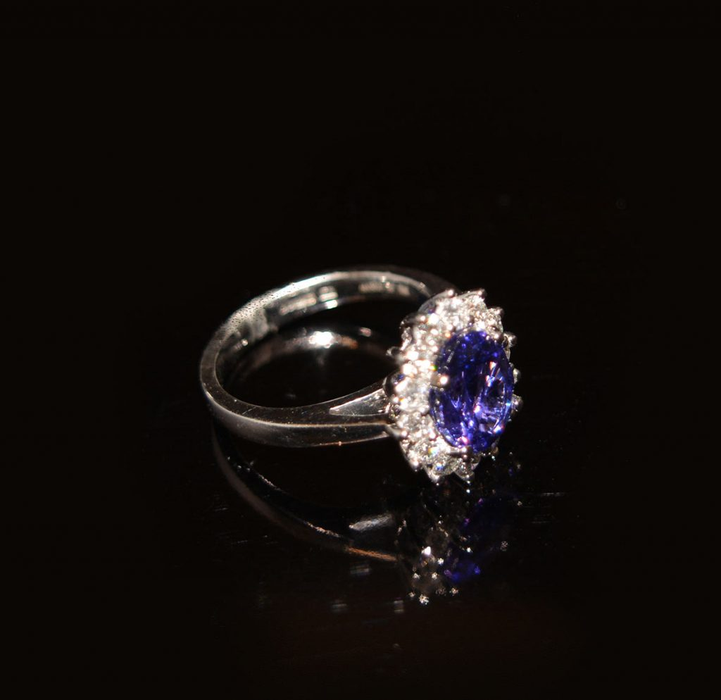 Tanzanite, diamonds and white gold one of a kind £3,950.00